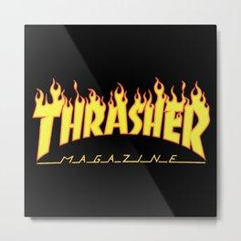 Thrasher Magazine Metal Print