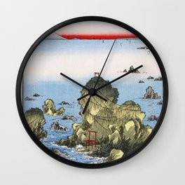 Hiroshige - 36 Views of Mount Fuji (1858) - 27: Futami Bay in Ise Province Wall Clock