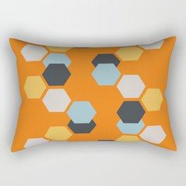 Sam (Orange) Rectangular Pillow