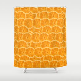 Orange Pattern Shower Curtain