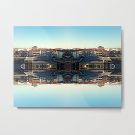 The Mirror City Metal Print