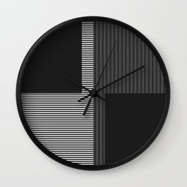 Figaro in Black and White Wall Clock