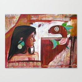 A Tale of One Fish Canvas Print