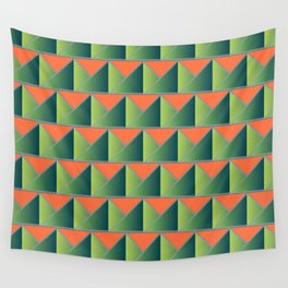 Fake 3D triangles Wall Tapestry