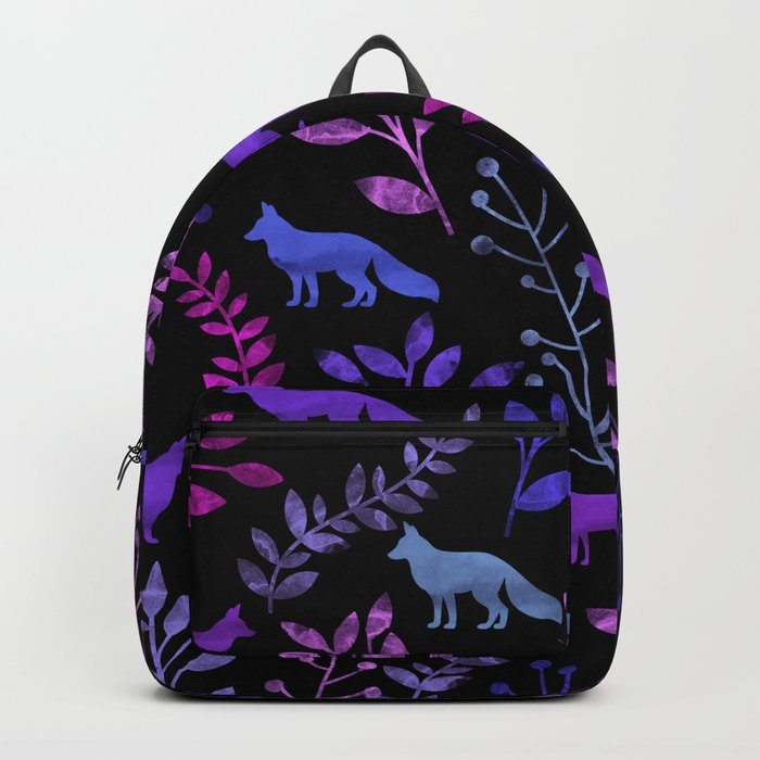 Watercolor Floral & Fox V Backpack