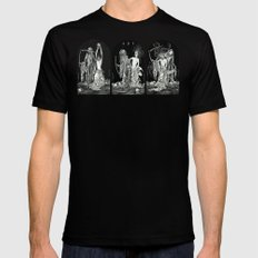 Death and the Maiden Triptych Mens Fitted Tee X-LARGE Black