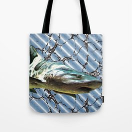shark-infested book Tote Bag