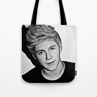 niall horan Tote Bags featuring Niall Horan  by D77 The DigArtisT