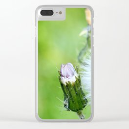 White flower Clear iPhone Case