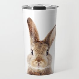 Baby Rabbit, Brown Bunny, Baby Animals Art Print By Synplus Travel Mug
