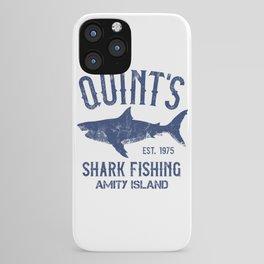 Quint's Shark Fishing - Amity Island iPhone Case