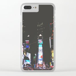Evening Glow - Times Square Clear iPhone Case