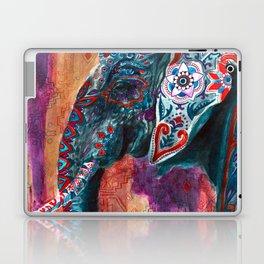 Elephant Indian Blossom Mandala Laptop & iPad Skin