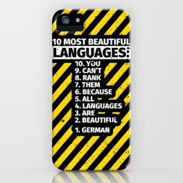 German Language Linguistics Germanist Linguist iPhone Case