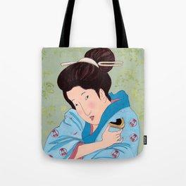 Mrs Hokusai Tries Vegetable Spread Tote Bag