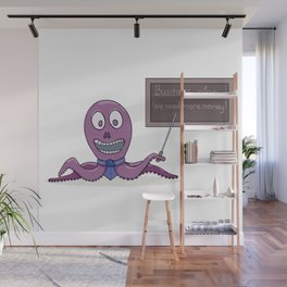 Octopus as a businessman and his business plan Wall Mural