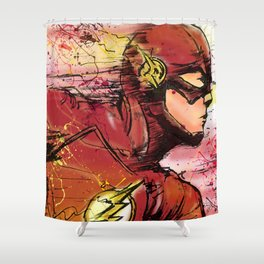 Fastest Man Alive Shower Curtain
