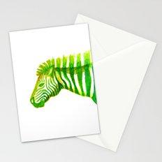 Zebra Watercolor Print Stationery Cards