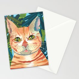 Red cat in the jungle Stationery Cards