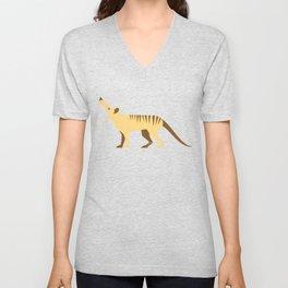 EXTINCT: Thylacine (Tasmanian Tiger) Unisex V-Neck