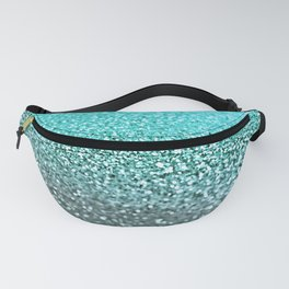 TEAL GLITTER Fanny Pack