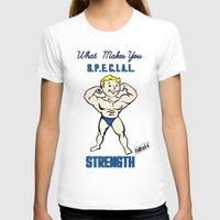fallout 3 T-shirts featuring Strength S.P.E.C.I.A.L. Fallout 4 by sgrunfo