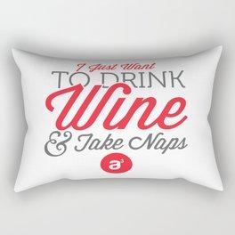 Drink Wine & Take Naps Rectangular Pillow