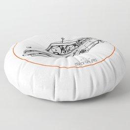 Crazy Car Art 0213 Floor Pillow
