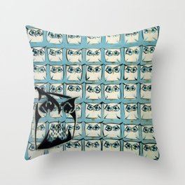 Sea of owls Throw Pillow