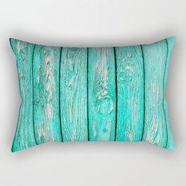 Green Old Wood Rectangular Pillow