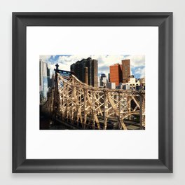 From the Tram - New York Framed Art Print