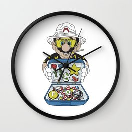 Mario - Fear And Loathing In Las Vegas Wall Clock