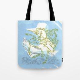 Unicorn Fucking a Dolphin Tote Bag
