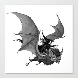 Inktober Bat Canvas Print