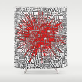 Explosion of Love Shower Curtain