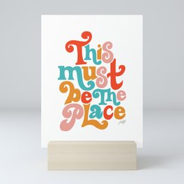 This Must be the Place (Primary Palette) Mini Art Print