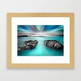 Quantum Divide Framed Art Print