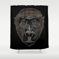 ape Shower Curtains featuring Ape by Mel McIvor