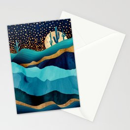 Indigo Desert Night Stationery Cards