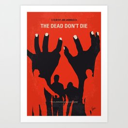 No1172 My The Dead Dont Die minimal movie poster Art Print