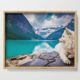 Wolf in Paradise (Color) Serving Tray
