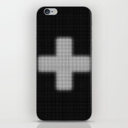 Halftone Plus Black iPhone Skin