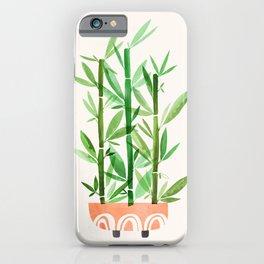 Happy Bamboo Houseplant iPhone Case