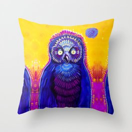 Owl Medicine Throw Pillow