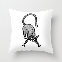 stretchy kat Throw Pillow