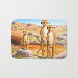 Meerkat and Pup Bath Mat