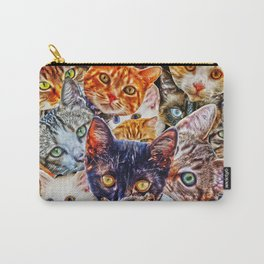 Kitty Cat Collage Carry-All Pouch