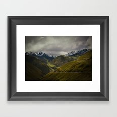 The Andes Framed Art Print