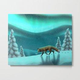 Snowy Fells Metal Print