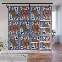 QUEEN OF CLUBS AND BOYFRIEND Wall Mural